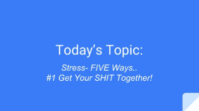 Insights #1 Stress Less